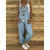 Women Casual Straps Solid Color Overalls Jumpsuit with Pockets