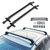 जोड़ी 105cm रूफ कार्गो रैक क्रॉस बार्स सामान वाहक धारक एंटी-चोरी कार एसयूवी