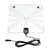 Universal ATSC USB HD Digital TV Antenna 50-100 Miles HD with HDTV Amplifier Signal Booster for Indoor