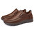 Menico Men Casual Comfy Soft Moc Toe Slip On Leather Oxfords