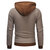 Casual Pullover Stitching Color Long Sleeve Plaid Hoodies Sweatshirts for Men