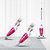 Deerma DX128C Household Vacuum Cleaner Mini 2-in-1 Upright Portable Cleaner- Rose red
