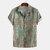 Män Colorful Mönstertryckt Sommar Turn Down Collar Casual skjortor