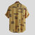 Mens Casual Stand Collar Printing Buttons Loose Fit Summer Short Sleeve Shirts