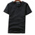 Mens Summer Cotton Vintage Solid Color Kortärmad Slim Casual T-Shirts