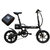 CMSBIKE F16 Extra Battery Set 36V 7.8AH 250W Black 16 Inches Folding Electric Bicycle 20km/h 65KM Mileage Intelligent Variable Speed System With An Extra Battery