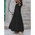 Women A-Line Ruffle Low Cut Sleeveless Maxi Swing Dress