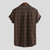Mens Vintage Checkered Short Sleeve Button up Plaid Shirts