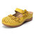 LOSTISY Flowers Pattern Sandals Hollow Out Soft Sole Shoes
