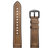 22mm Silica gel Inside External Leather Watch Band Watch Strap for Xiaomi Amazfit 2
