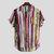 Mens Fashion Colorful Pockets Design Loose Short Sleeve Casual Shirts