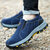 Men Suede Cowhide Outdoor Hiking Anti-Collision Toe Cap Loafers