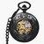 JIJIA JX024ドラゴンとPhoenixビーズ付きメカニカルウォッチ懐中時計