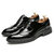 Men Stylish Pattern Leather Pointed Toe Slip Resistant Business Oxfords