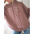 Women Solid Color Irregular Hem Bat Sleeve Knit Sweaters