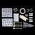 79Pcs DIY Creative Crystal Epoxy Mould Jewelry Silicone Accessories Resin Casting Molds