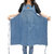 Unisex Adjustable Denim Canvas Chef Denim Bib Aprons with Convenient Pockets BBQ