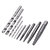 Drillpro 11Pcs M3-M12 Screw Extractor Drill Bit Damaged Broken Screw Bolt Tap Die Wrench Stud Remover Tool Kit