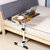 360 Degrees Adjustable Angle & Height Rolling Notebook Laptop Desk Stand Over Bed Sofa Table