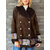 Casual Patch Print Faux Suede Double-breasted Winter Coats