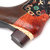 SOCOFY Women Flower Pattern Genuine Leather Stitching Mid Calf Boots