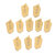 Drillpro 10pcs SP200 SP300 SP400 PC9030 NC3020 NC3030 Grooving Carbide Insert Lathe Cutter Turning Tool Parting and Grooving Off Tools
