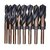 Drillpro 8pcs 1/2 Inch Shank HSS 4241 Twist Drill Bit Set 9/16 to 1 Inch Twist Drill for Wood Metal