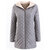 Women Solid Color Plaid Suture Thicken Hooded Cotton Coats