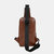 Men Vintage Large Capacity Multifunctional USB Casual Chest Bag Crossbody Bag For Outdoor