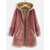 Solid Color Patchwork Hooded Casual Coats For Women