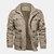 Mens Winter Fleece Warm Hooded Multi bolsillos Casual Cotton Jacket