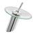 Modern Style Kitchen Bathroom Vessel Copper Glass Round Waterfall Tub Sink Faucet Tap