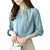 Casual Chiffon O-Neck Solid Color Office Blouse