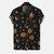 Män Sun Moon Print Kortärmad avslappnade skjortor