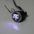 22mm AC 50-380V Thermometer Indicator Light LED Digital Display Temperature Measuring Induction Ranging -20-199℃