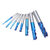 Drillpro 8Pcs Blue Naco 2-12mm 4 Flutes Carbide End Mill Set HRC50 Tungsten Steel Milling Cutter Tool