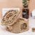 Wooden Jewelry Box Desktop Organizer Wood Carving Storage Box Assembled Creative Toy Gift Puzzle Wooden Mechanical Model DIY Tools