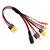 20cm 20AWG 4.0mm Banana Plug से XT60 XT30 DC5.5 T Plug चार्जर एडाप्टर केबल IMAX B6 ISDT चार्जर के लिए
