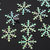 300pcs New Year Merry Christmas Snowflake Sequins Santa Claus Ornaments Christmas Tress Holiday PartyClothing Christmas Decorations