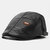 Men's PU Leather Beret Caps Casual Newsboy Cap Warm Hats