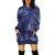Women Long Sleeve Printed Hooded Sweatshirt Dress Pockets Pullover Tops