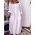 Loose Solid Color Long Sleeve Casual Maxi Dress