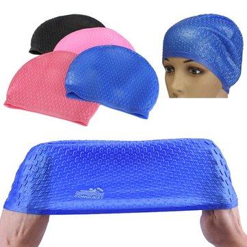Silicona resistente al agua casquillo de natación para los oídos de protección adultos pelo largo verano