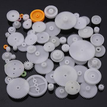 64 Tipos Engranaje de Corona Helicoidal de Plástico de Doble Reducción Única