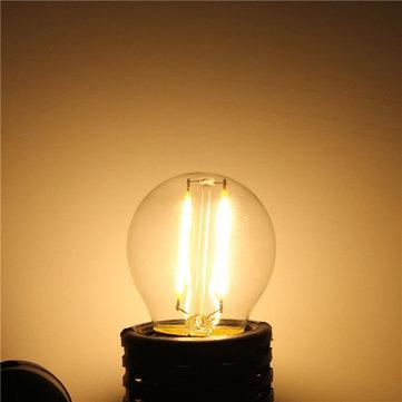E27 G45 2W Warm White/ White Edison Filament LED COB Dimmable Lamp AC220V/110V