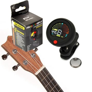 Clip-on Chromatic Tuner Metronome Electric Guitar Bass Ukulele