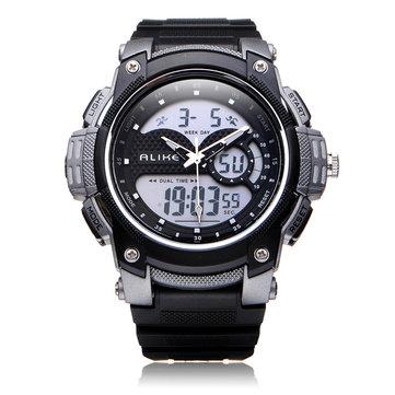 Alike AK1396 Sport Date Chronograph Alarm Black Men Wrist Watch