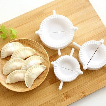 3Pcs Chinese Dumplings Dough Press Turnover Ravioli Tool Mold Maker