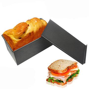 Rectangle Non-stick Toast Box Kitchen Pastry Bread Baking Pan Bakeware