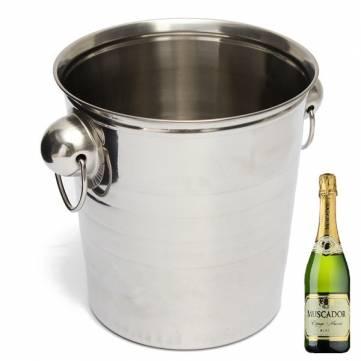 Stainless Steel Ice Bucket Champagne Barrel Beer Wine Cooler Multifunction Bar Tools